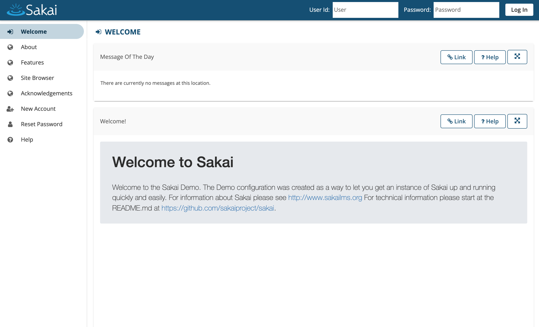 Sakaiメインページ